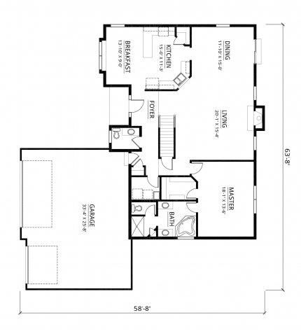 Kaerek Homes Ashley First Floor Plan