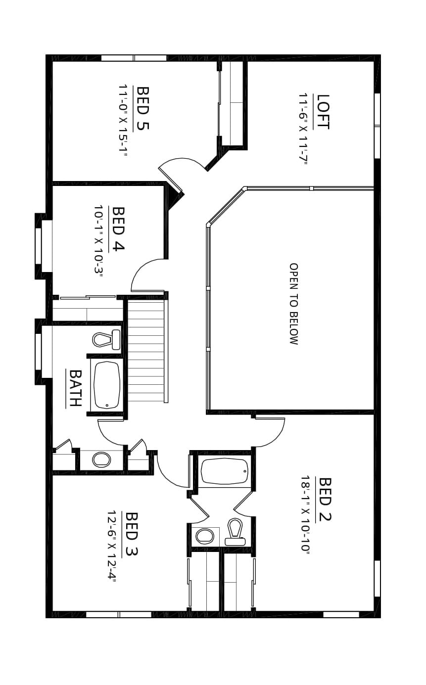 Kaerek Homes Ashley Second Floor Plan
