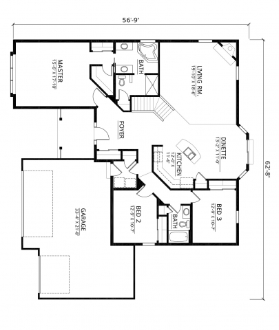 Kaerek Homes Aspen II Floor Plan