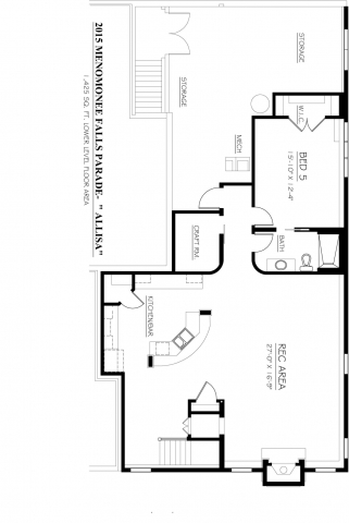 Kaerek Homes Allisa Basement Floor Plan