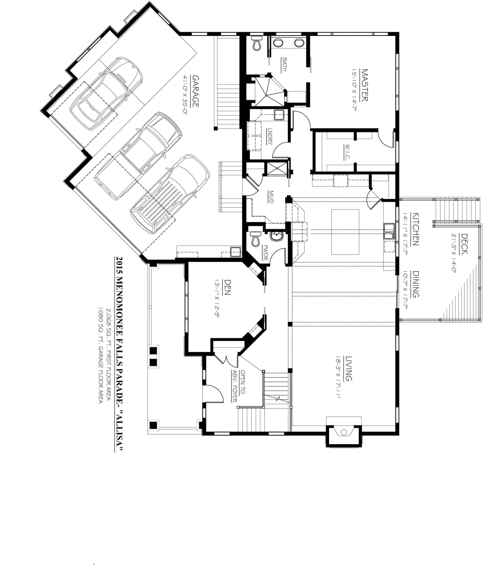 Kaerek Homes Allisa First Floor Plan