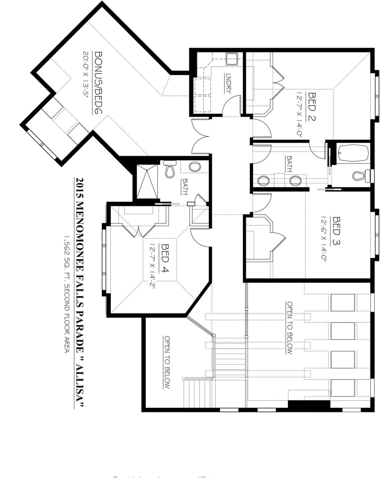 Kaerek Homes Allisa Second Floor Plan