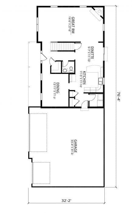 Kaerek Homes Bentley First Floor Plan