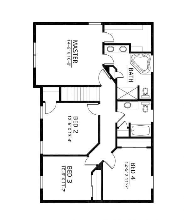 Kaerek Homes Bentley Second Floor Plan