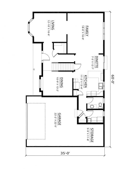 Kaerek Homes Bridgeport First Floor Plan