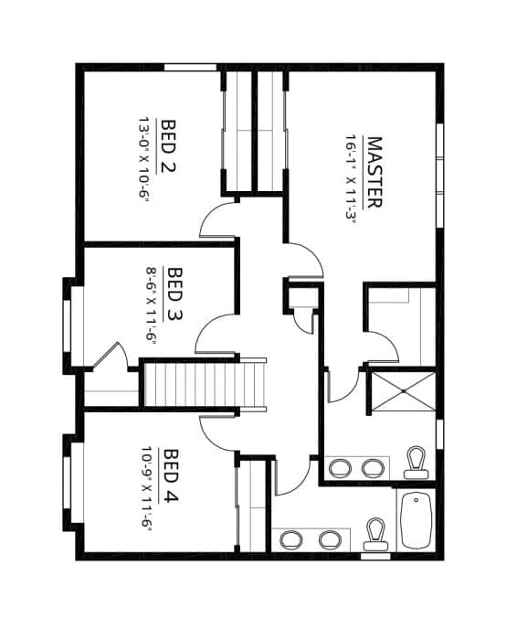 Kaerek Homes Bridgeport Second Floor Plans