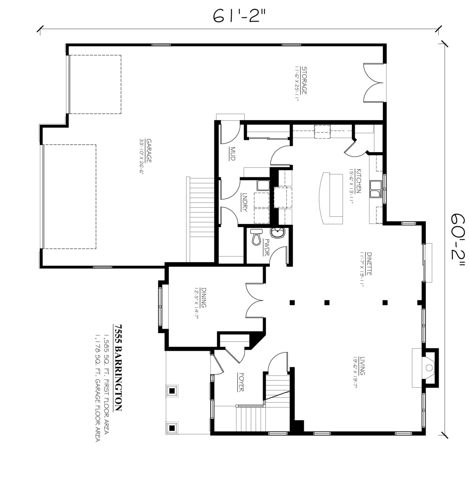 Kaerek Homes Barrington First Floor Plan