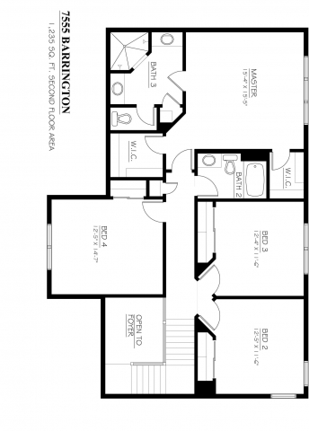 Kaerek Homes Barrington Second Floor Plan