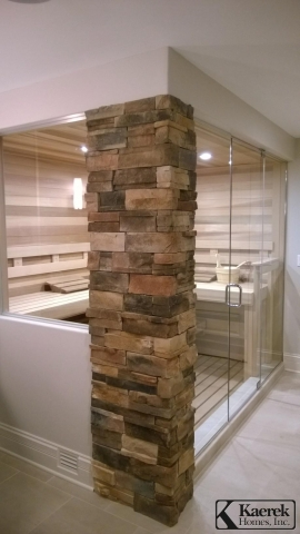 Kaerek Homes Master Bath w/ Sauna